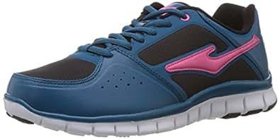 Erke Women's Sportive Series Peacock Blue and Pink Mesh Multisport Training Shoes - 8 UK