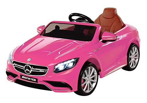 Kinder Elektroauto Mercedes Lizenziert AMG S63 Kinder Elektro Auto Kinderauto Kinderfahrzeug Spielzeug für Kinder (pink)