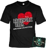 Papa Deko-Sprüche-Schild - Geschenk-Set Papa - Vater T-Shirt : Patchwork Papa Gemeinsam sind wir stark & Der Beste Papa - Deko Sprüche-Schild Eltern/Papa Gr: XL