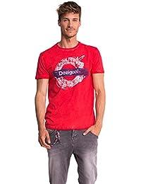 Desigual Herren T-Shirt Rot Rot