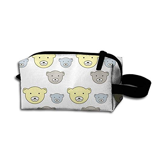 Bear Pattern Women's Tolietry Bag Cosmetic Travel Case Accessories Organizer -