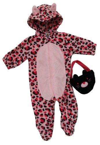 he und reißverschluss body kostüm zwei-teiliges set für Baby - Mädchen 6-9 Monate Rosa (Leopard Kostüme Für Mädchen)