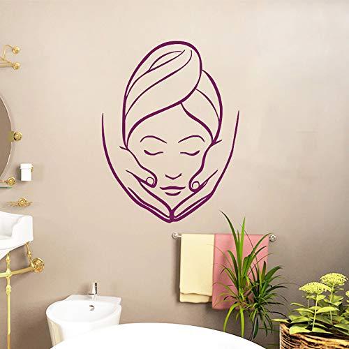 zqyjhkou Spa schönheitssalon Massage PVC wandaufkleber Wand dekorative Vinyl für mädchen wandbilder Bad abziehbilder wasserdicht Schlafzimmer d096 42x56 cm -