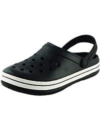 Plush Men's Black PVC Crocs Shoes - 7
