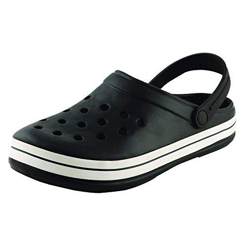 Plush Men's Black PVC Crocs