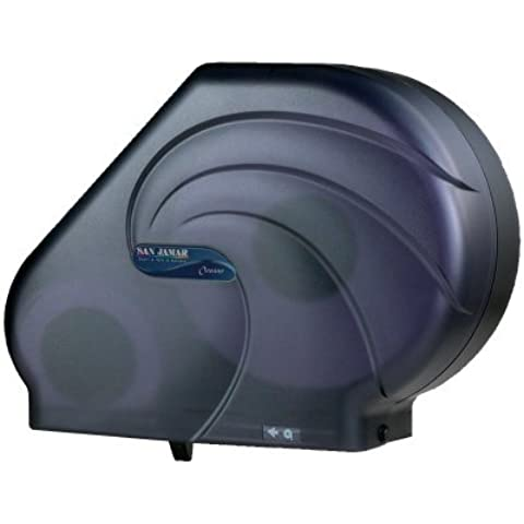 Reserva R3090TBK 16-3/4 Width, 12-1/4 Height, 5-1/2 Depth, Black Pearl Color, Roll Bath Tissue Dispenser with Stub Roll Compartment by Reserva