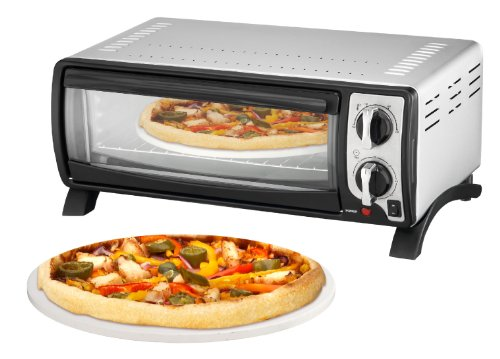 Efbe-Schott SC MBO 1000 SI Pizza and Multi-Oven with High Quality Pizza Stone includes 30 cm Diameter, 1400 W, Silver