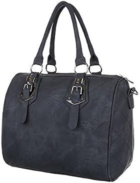 Damen Tasche, Schultertasche, Mittelgroße Handtasche Tragetasche, Kunstleder, TA-5856