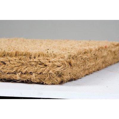 105 x 65 cm/Felpudos fibra de coco resistente, Natural