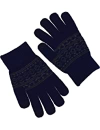 Soxwich® Mens/Ladies Fairisle designer Iphone IPad HTC touch screen Gloves (Navy)