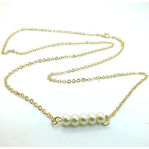 Fashion Bikini de oro vientre cuerpo Cintura Cadena Enlace Sexy Imitación Collar de perlas