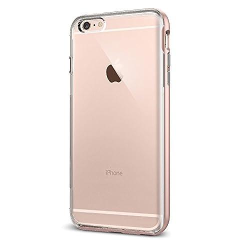 Coque iPhone 6s Plus, Spigen [Neo Hybrid EX] PREMIUM BUMPER [Rose Gold] Clear TPU / PC Frame Slim Dual Layer Premium Coque Pour iPhone 6 Plus (2014) / 6s Plus (2015) - Rose Gold (SGP11729)