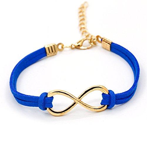 LUFA-Wristband-Wrap-braccialetto-a-pi-strati-di-pelle-le-donne-davanguardia-Infinity-Symbol