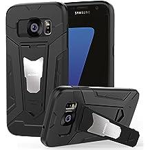 HOOMIL Funda Samsung Galaxy S7, Galaxy S7 Silicona Funda Shock-Absorción Armadura Carcasa para Samsung S7 - Negro