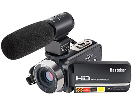 Fotocamera Videocamera, Besteker Full HD Video fotocamera 24 MP...