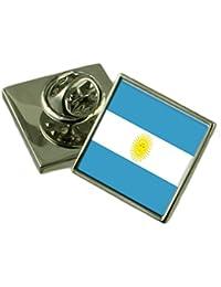 Argentina Bandera Insignia de solapa de plata maciza 925