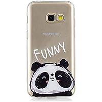 b219a9aae71 Funluna Funda Samsung Galaxy A5 2017, Panda Diseño Cubierta de Silicona Gel  Case Ultra Delgado
