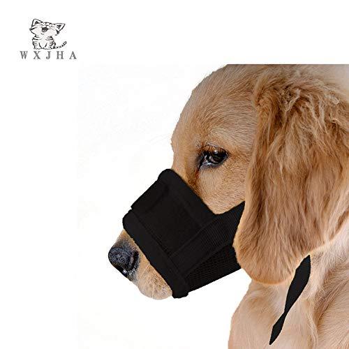 WXJHA Maulkorb, Anti-Biss- und Speichenschutz, für Grundierung, luxuriös, verstellbar, sicher und atmungsaktiv, Allround-Anti-Verschleiß-Maske M Schwarz -