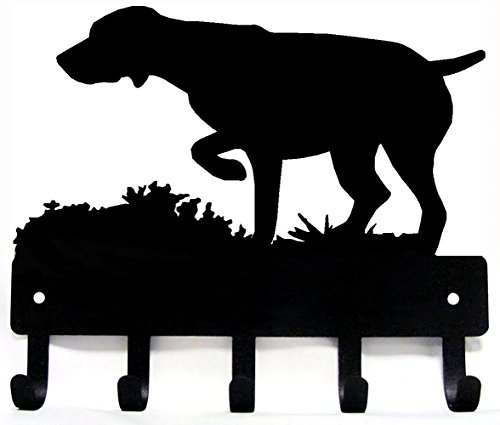 GSP on Point - German Shorthaired Pointer Key Rack/ Dog Leash Hanger - Artisan Metal Shop Gifts & Awards - Large 9 inch wide by The Metal Peddler