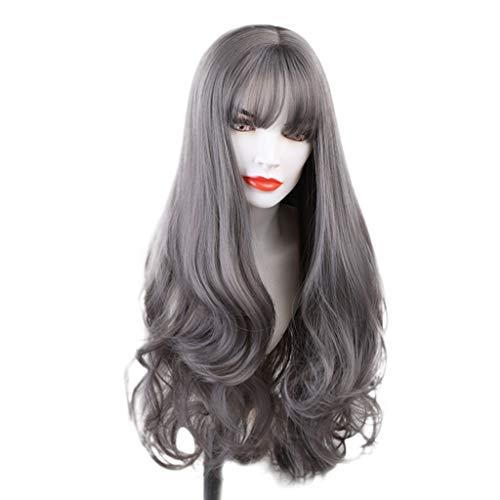 Perruque Femme naturelle, feiXIANG Hair Élégant Synthétique Résistant À La Chaleur Synthétique Cheveux Blonds Dorés Perruques Comme Véritable Perruque cosplay