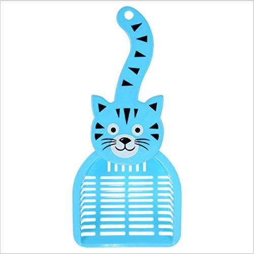 Blau Superman Neue Kostüm - Kreative Neue Katze Sand Schaufel Hochwertige Süße Katze Sand Schaufel - Katze Sand Schaufel Mit Katze Kopf Katze Gesicht Schaufel Pro Blau