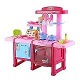 Civigroupey Küchenspielzeug, Kinder Spielküche Kinderküche Puppenküche Küche Kochen Simulation Modell Kinder Pädagogisches Spiel Spielzeug Multifunktionale Küche Spielset Mit Musik Licht