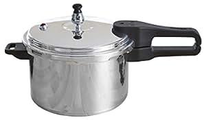 IMUSA A417-80801W Stovetop Polished Aluminum Pressure Cooker , Silver, 7.2 Quart