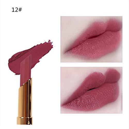BHYDRY Kosmetik Matte und Kürbis Farbe Bohnenpaste Lip Solid Gloss Lipstick Long Last