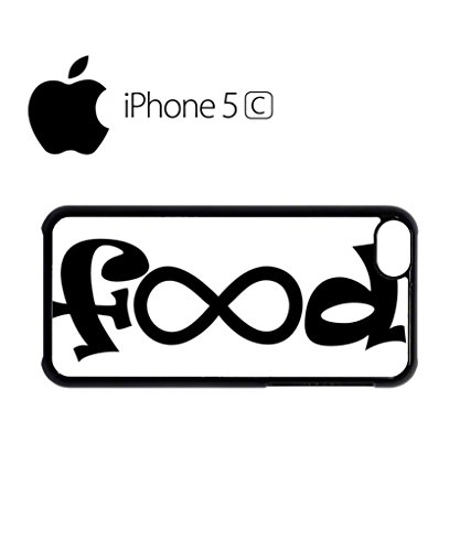 Food Infinity Geek Funny Mobile Cell Phone Case Cover iPhone 5c Black Weiß