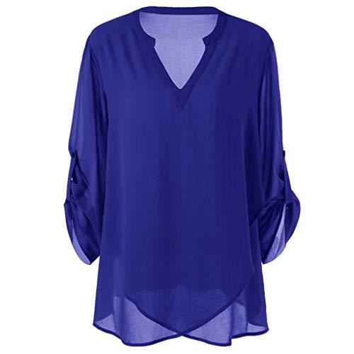 Damen Kleidung Große Größe V-Ausschnitt Lose Asymmetrisch Sweatshirt Pullover Bluse Oberteile Oversized Tops T-Shirt Pullover Mit Kapuze - Classic Petite Mantel