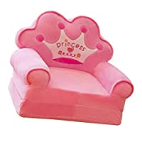 FLAMEER Princess Crown Armchair Cover Cute Cartoon Washable Children Fold Sofa Chairs Seat Cover Upholstered Living Room Furniture