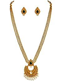 f5aeb23b34294 Traditional Ethnic One Gram Gold Plated Fine Work Pearl Heavy ...