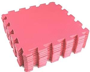 10 Piece Pink Interlocking Soft Kids Baby EVA Foam Activity Play Mat Floor Tiles