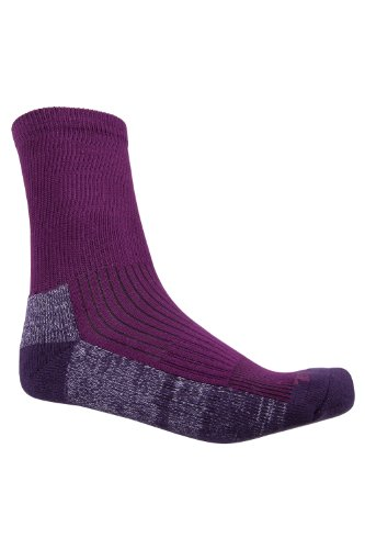 Mountain Warehouse IsoCool Hiker Socks - Quick Dry Long Socks, Highly Breathable Walking Socks, High Wicking Boot Socks - Ideal for Trekking, Travelling & Cycling