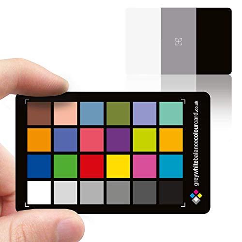 Grey White Balance Colour Card Karte zum Grau- und Weißabgleich, magnetisch, 3 x 2, 1 Stück - Icc-mini