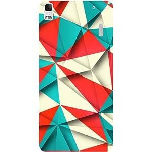 Casotec Red Blue White Pattern Design Hard Back Case Cover for Lenovo K3 Note