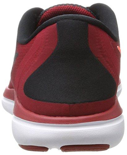 Nike Flex 2017 Rn, Scarpe Running Uomo Nero (Black/metallic Hematite-bleu Tough Red-total Rouge Crimson)