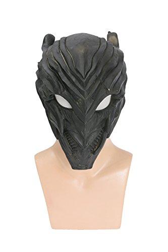 Halloween Maske Schwarz Voller Kopf latex Helm Villain Cosplay Kostüm Replik für Erwachsene Kleidung (Kostüm Zoom Flash)
