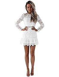 0c84538161bb Amazon.it: vestito bianco in pizzo: Abbigliamento