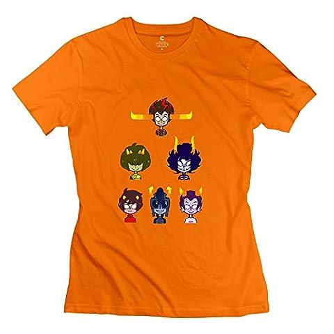KST - T-shirt - Femme - Orange - X-Small