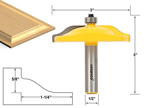 Yonico 12136 Raised Panel Router Bit with Ogee Door 3-Inch Diameter 1/2-Inch Shank by Yonico -
