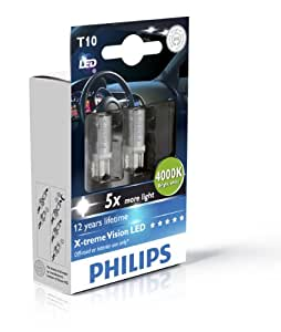 philips 0730150 129644000kx2 t10 w5w vision led amazon. Black Bedroom Furniture Sets. Home Design Ideas