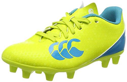 Canterbury, Speed 2.0 Firm Ground, Scarpe da Rugby, Bambino, Giallo (Sulphur Spring), 34 EU