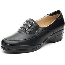 7751776d1a Mocasines Planos Negros para Mujer – Cestfini Los cómodos Zapatos de cuña  para Mujer