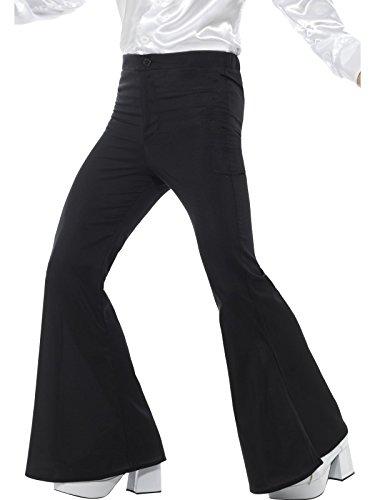 Smiffys 48191L Déguisement Homme Pantalon à Pattes d'Éléphant L Noir