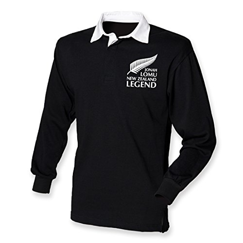 Printmeashirt Jonah Trikot Tribute New Zealand Rugby Legend Shirt Gr. Large, schwarz/weiß - Irland Rugby-shirt