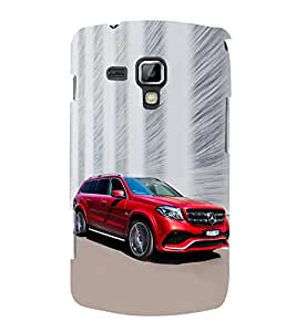 Luxury Red Car 3D Hard Polycarbonate Designer Back Case Cover for Samsung Galaxy S Duos S7562