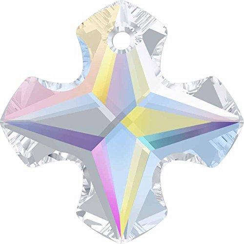 Cristallo Swarovski Ciondolo a croce greca, Crystal AB, 18mm - Pack of 48 (W/S) - Croce Ab Cristallo