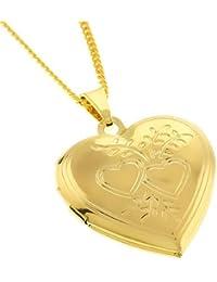 Memoir Gold-Plated Locket Necklace for Boys, Girls, Men, & Women