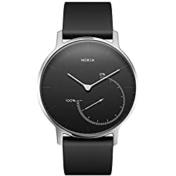 Nokia health Steel Reloj, Unisex Adulto, Negro/Silver, 36 mm